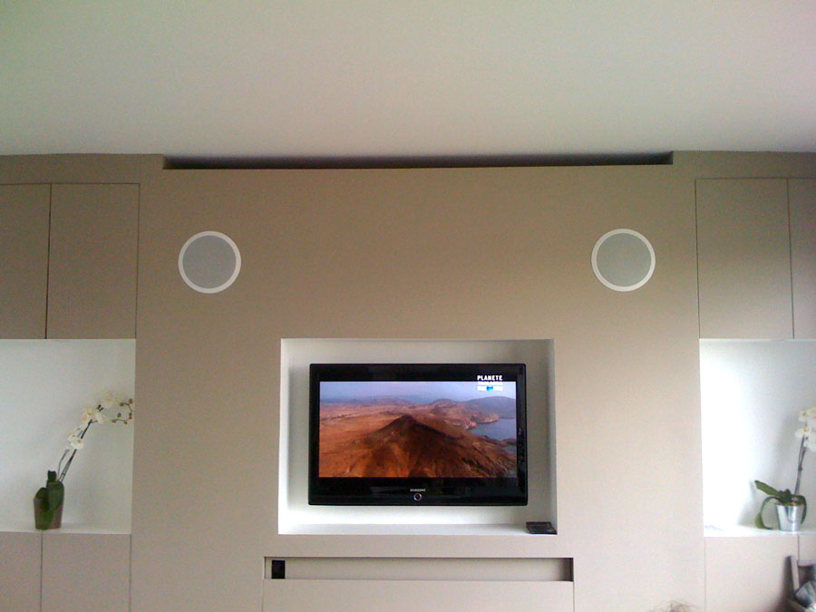 Instllation homecinéma diversses, waterproof, TV niche, encasrtement HP -> Tv Encastrable