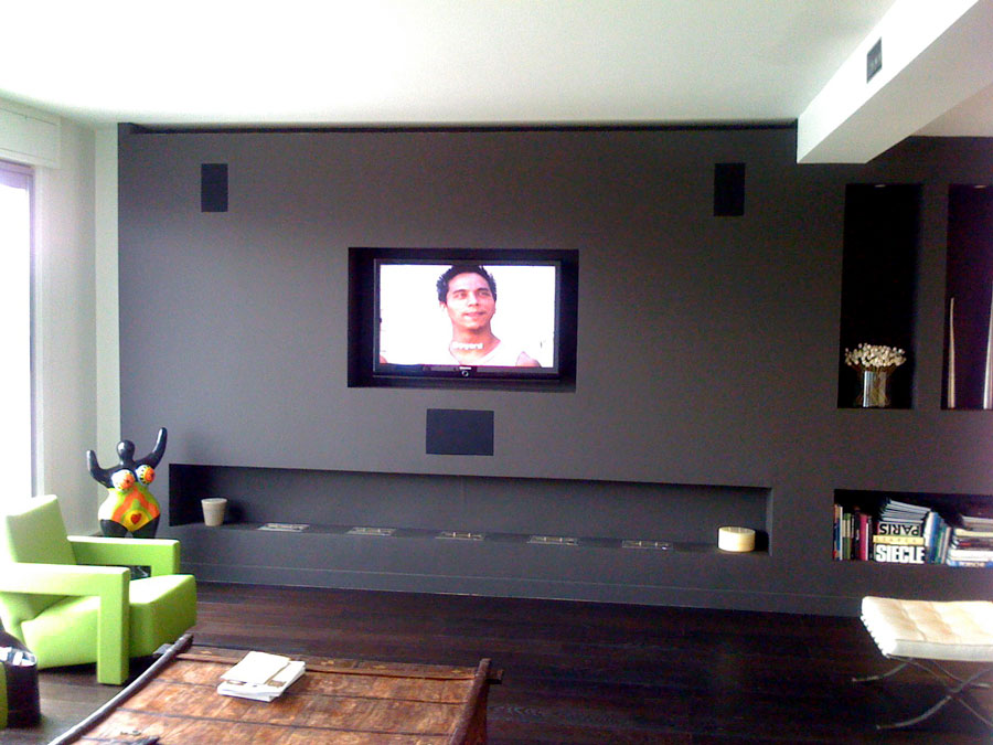 meuble tv avec enceinte. Black Bedroom Furniture Sets. Home Design Ideas