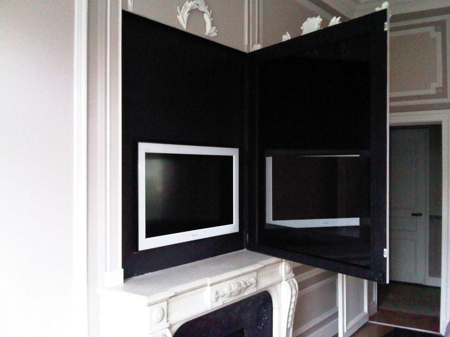 Les installations home cin ma audio et vid o blaack for Meuble qui se transforme
